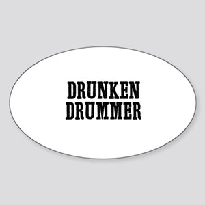 drunken drummer Oval Sticker